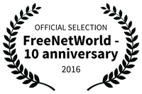 Official selection FreeNetWorld 10 anniversary 2016 logo